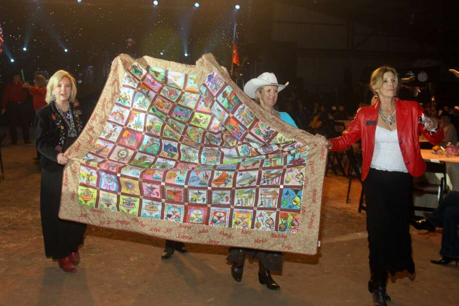 A quilt for up for bidding during the auction at the Cattle Barons Ball.
