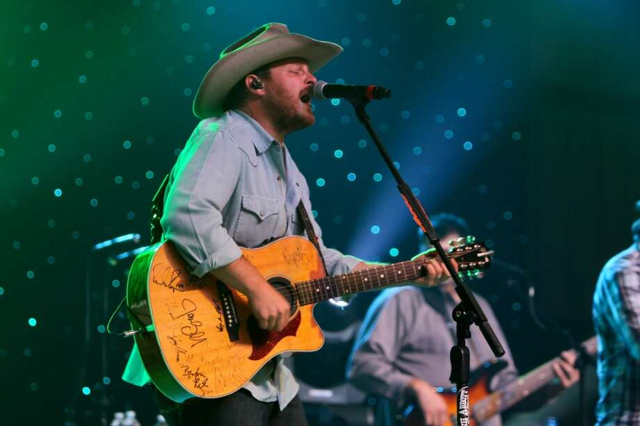 Josh Abbott of the Josh Abbott Band, performing at the Cattle Barons Ball.