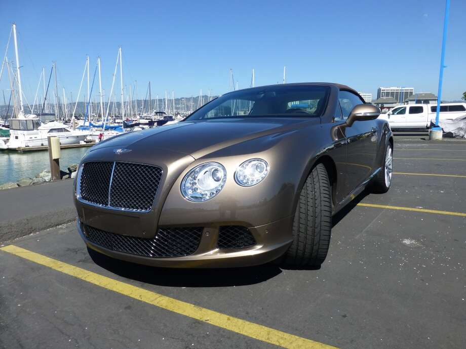 This particular Bentley is said to be the fastest four-seat convertible sold in the U.S. It has a top speed of 202 mph.