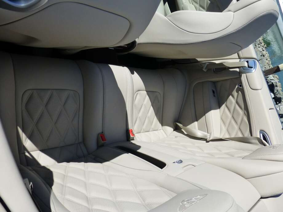 The rear seats -- good for groceries or maybe one passenger, but not much else.