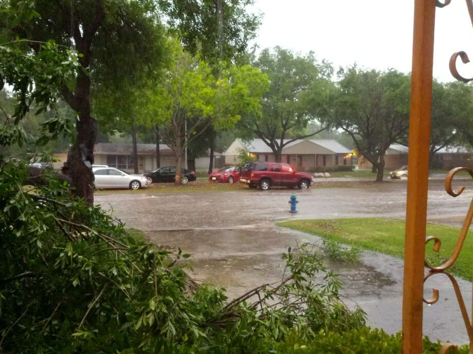 Flooding near Meyerland.