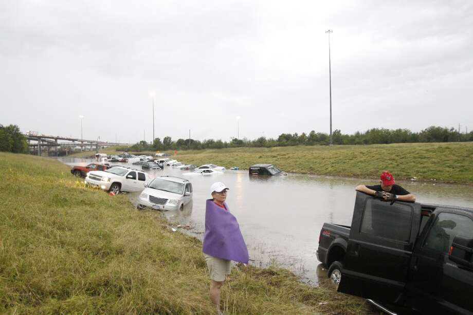 Mike and Patti Sobota and their truck encountered floodwaters on 288.