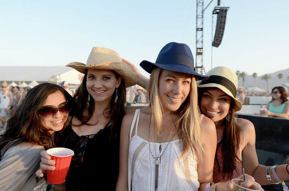 INDIO, CA - APRIL 27:  Colbie Caillat (2nd Right) and guests attend 2013 Stagecoach: California's Country Music Festival held at The Empire Polo Club on April 27, 2013 in Indio, California. Photo: Matt Cowan / 2013 Getty Images