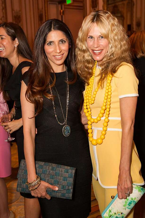 Sobia Shaikh and Melissa Barber at the San Francisco Ballet Auxiliary Fashion Show on April 26, 2013. Photo: Drew Altizer Photography