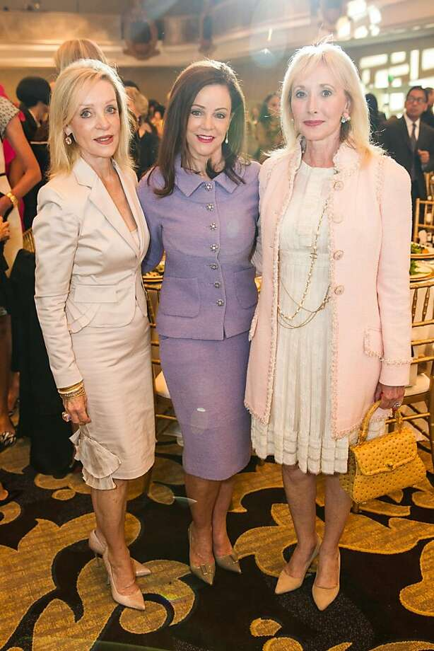 Barbara Brown, Gail deMartini and Merrill Kasper at the San Francisco Ballet Auxiliary Fashion Show on April 26, 2013. Photo: Drew Altizer Photography