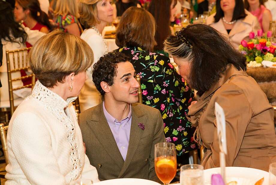 Urannia Ristow, Zac Posen and Diane Chapman at the San Francisco Ballet Auxiliary Fashion Show on April 26, 2013. Photo: Drew Altizer Photography