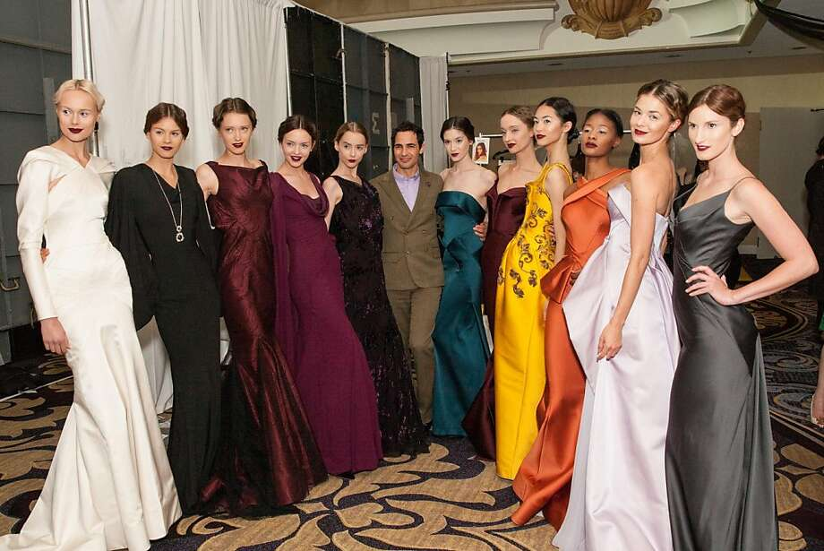 Models dressed in Zac Posen designs at the San Francisco Ballet Auxiliary Fashion Show on April 26, 2013. Photo: Drew Altizer Photography