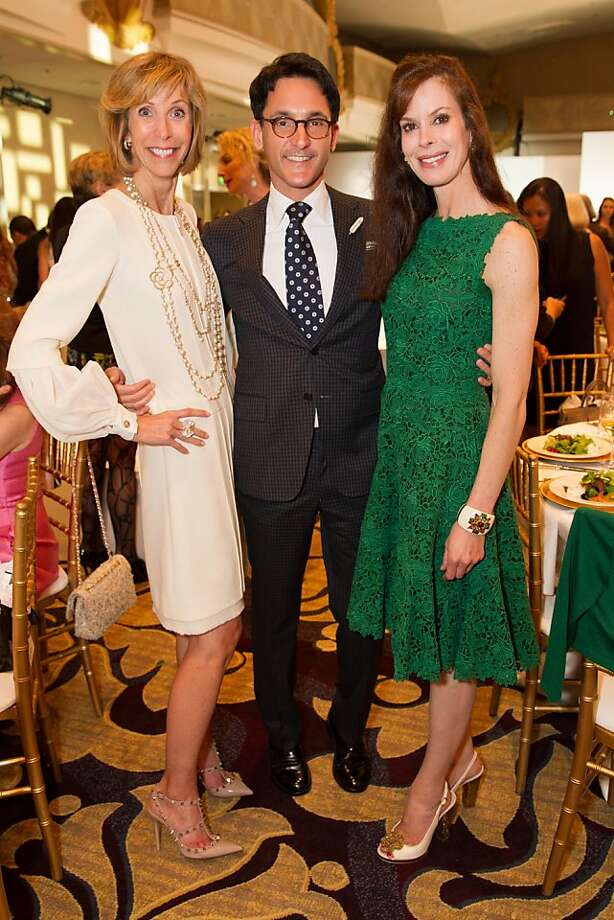 Nancy Kukacka, James Krohn and Stephanie Ejabat at the San Francisco Ballet Auxiliary Fashion Show on April 26, 2013. Photo: Drew Altizer Photography
