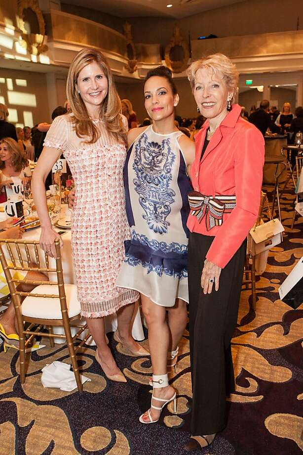 Kirsten Bartok, Lora DuBain and Barbara Brookins-Schneider at the San Francisco Ballet Auxiliary Fashion Show on April 26, 2013. Photo: Drew Altizer Photography