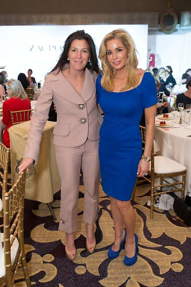 Sloan Barnett and Paula Carano at the San Francisco Ballet Auxiliary Fashion Show on April 26, 2013. Photo: Drew Altizer Photography