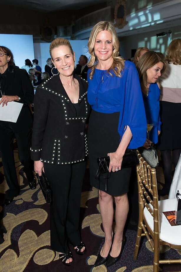 Lisa Goldman and Mary Beth Shimmon at the San Francisco Ballet Auxiliary Fashion Show on April 26, 2013. Photo: Drew Altizer Photography
