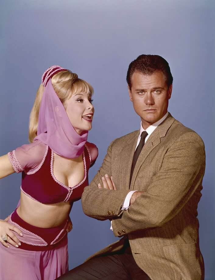 'I Dream of Jeannie': Although Jeannie's everyday colorful mini dresses still have the power to make vintage lovers swoon, her pink genie outfit and bare torso are unforgettable.