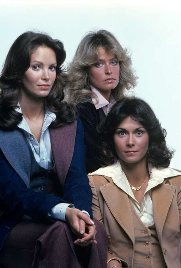 'Charlie's Angels': Between the feathered, flowing locks and the bell bottoms, these three bombshells heated up the small screen in true 70s style.