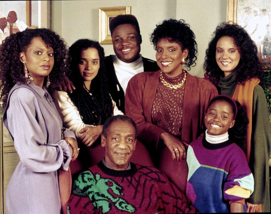 """'The Cosby Show': You can't talk about iconic TV fashion without mentioning Cliff Huxtables' collection of sweaters. Ugly? Yes, but """"Cosby sweater"""" is still an affectionate term for particularly garish knitwear."""