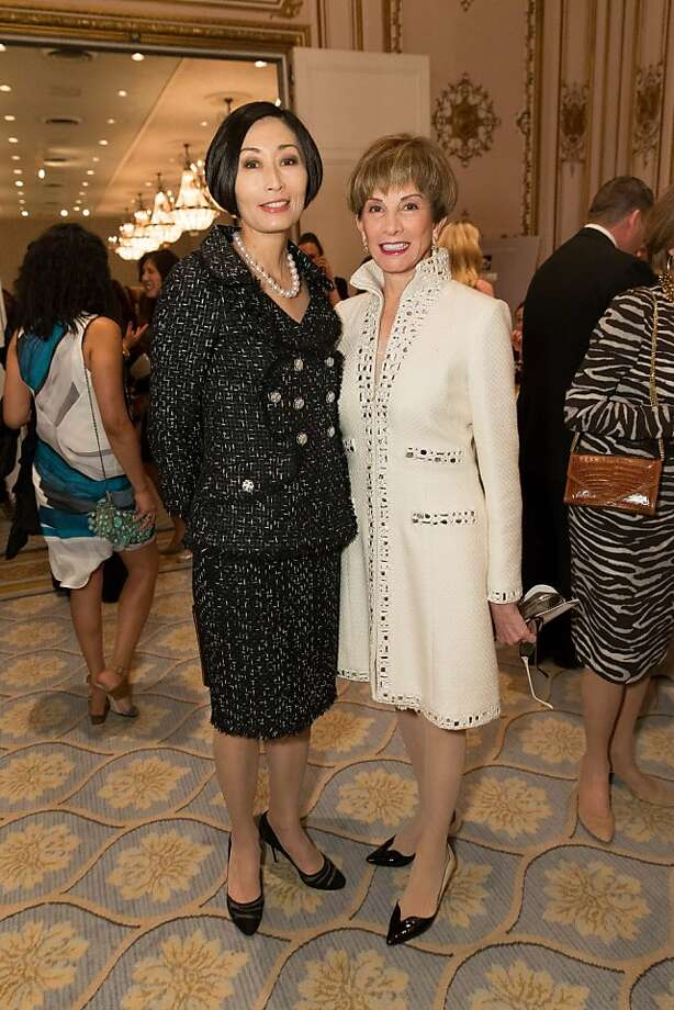 Yurie Pascarella and Urannia Ristow at the San Francisco Ballet Auxiliary Fashion Show on April 26, 2013. Photo: Drew Altizer Photography