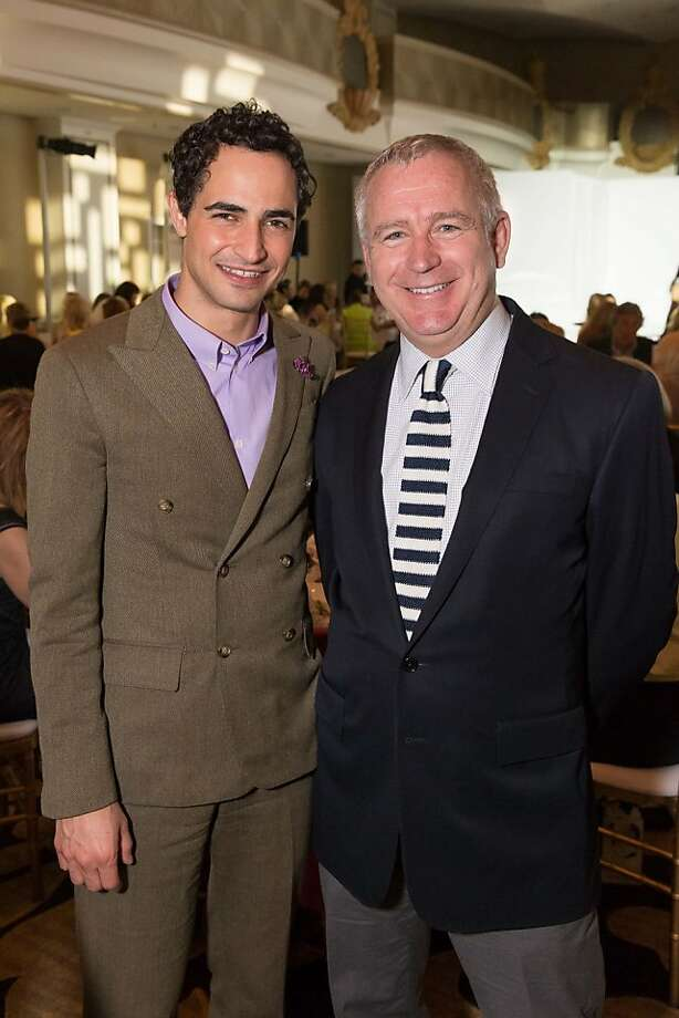 Zac Posen and Glenn McCoy at the San Francisco Ballet Auxiliary Fashion Show on April 26, 2013. Photo: Drew Altizer Photography