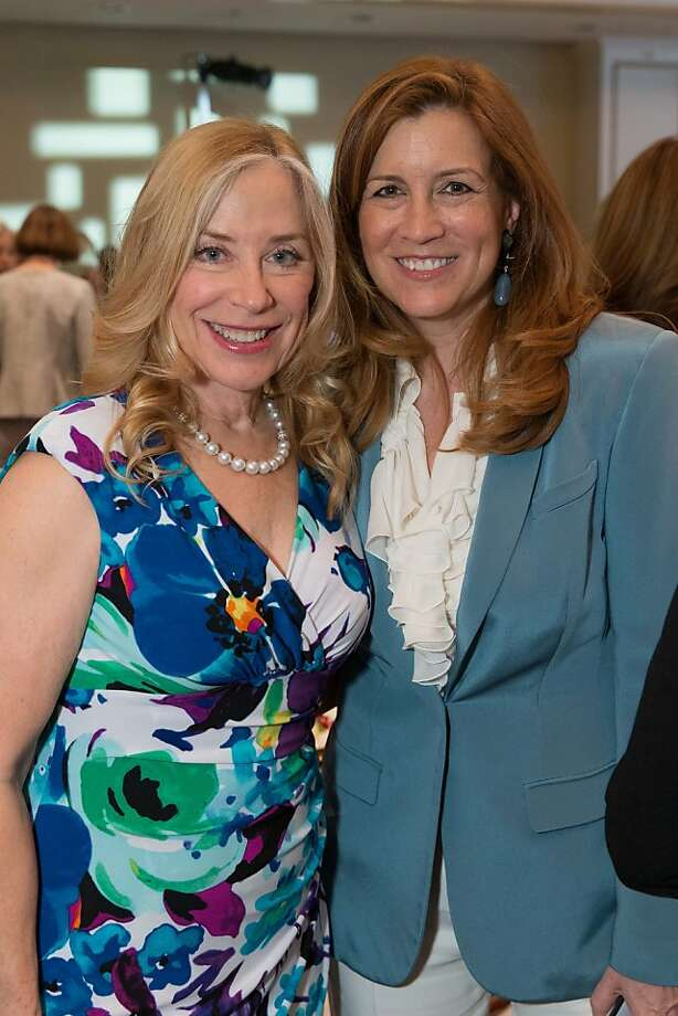 Alletta Bayer and Jean Larette at the San Francisco Ballet Auxiliary Fashion Show on April 26, 2013. Photo: Drew Altizer Photography