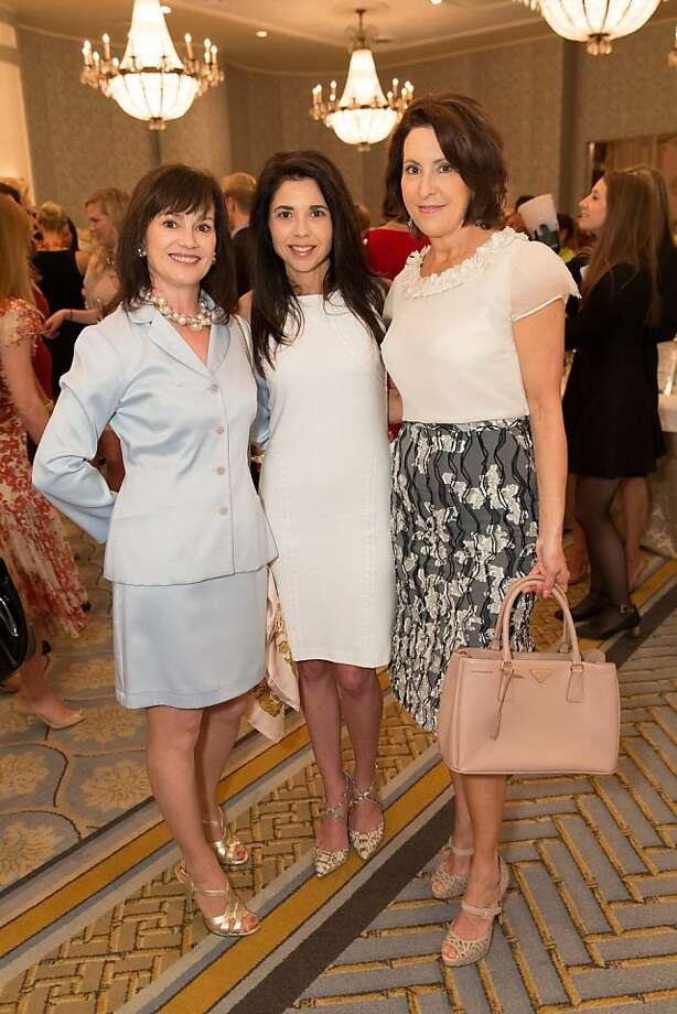 V'Anne Singleton, Candace Cavanaugh and Susan Atherton at the San Francisco Ballet Auxiliary Fashion Show on April 26, 2013. Photo: Drew Altizer Photography
