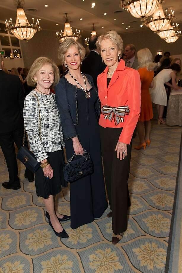 Rhea Friend, O.J. Shansby and Barbara Brookins-Schneider at the San Francisco Ballet AuxiliaryFashion Show on April 26, 2013. Photo: Drew Altizer Photography
