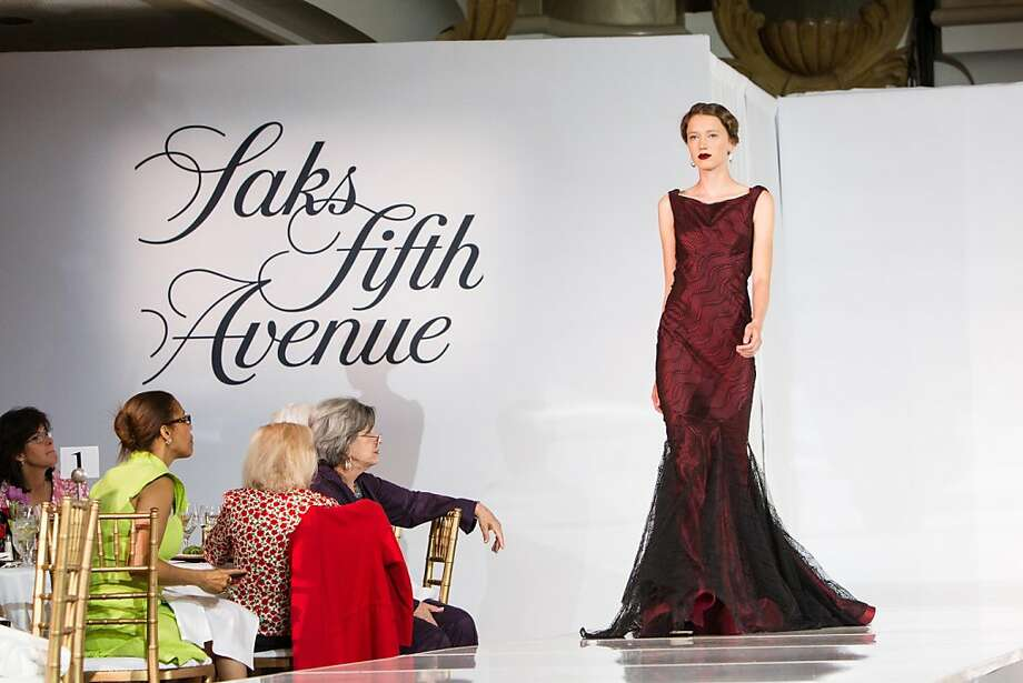 A model walks the runway in a Zac Posen design during the San Francisco Ballet Auxiliary Fashion Show on April 26, 2013. Photo: Drew Altizer Photography, Laura Morton For Drew Altizer Ph