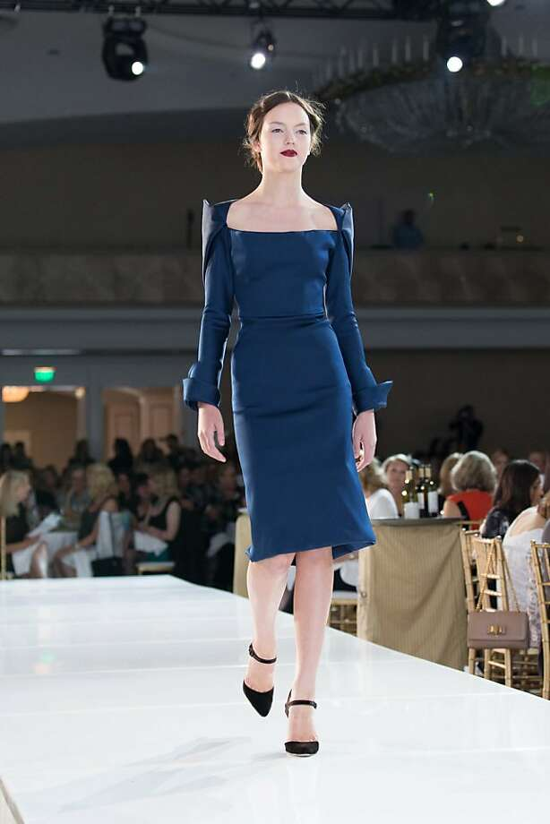 A model walks the runway in a Zac Posen design during the San Francisco Ballet Auxiliary Fashion Show on April 26, 2013. Photo: Drew Altizer Photography