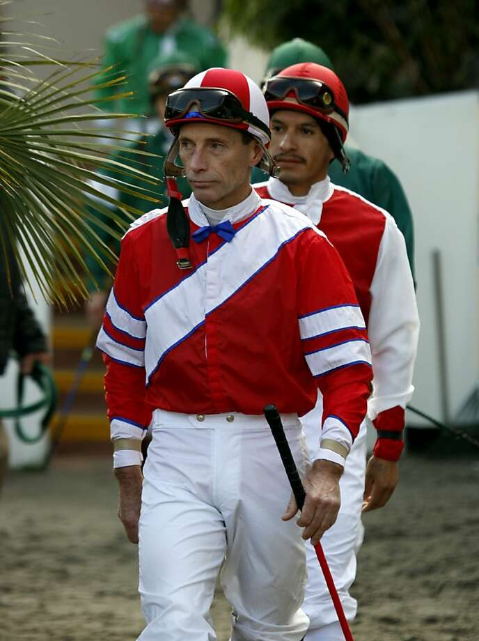 Jockey Russell Baze is the winningest North American jockey of all time with over 11,000 career wins. Baze is still riding the Northern California circuit at age 54. Photo: Paul Chinn, The Chronicle