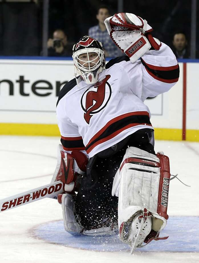 New Jersey Devils goalie Martin Brodeur turns 41 this year. He's spent all 21 years of his pro career with the Devils. Photo: Seth Wenig, Associated Press