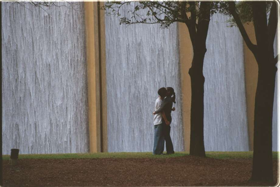 Williams TowerThe giant waterfall offers picturesque views, plus calming white noise for the kiddos.2800 Post Oak Road, Houston Photo: Chronicle File