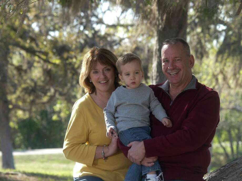 Mike, Denise and Nicholas Guthrie at the San Jacinto Battleground State Historic Park in La Porte. Photo: Affinity Photography