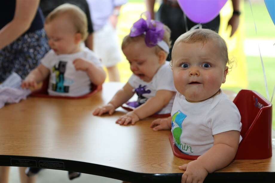 The Perkins sextuplets of Pearland, who turned 1 on April 23, 2013 marked their first birthday with a party. Photo by Wally Crow/Texas Children's Hospital.