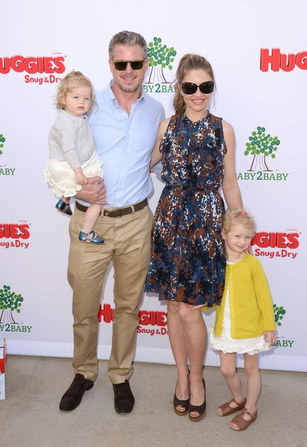 LOS ANGELES, CA - APRIL 27:  Actors Rebecca Gayheart, Eric Dane, and their daughters attend the Huggies Snug & Dry and Baby2Baby Mother's Day Garden Party held on April 27, 2013 in Los Angeles, California.  (Photo by Jason Merritt/Getty Images for Baby2Baby)