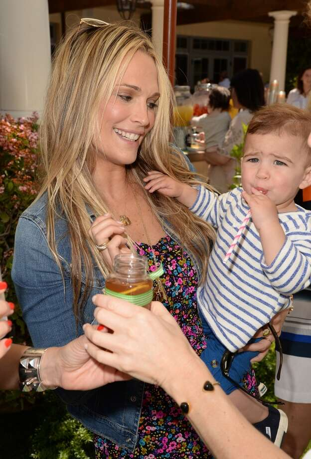 LOS ANGELES, CA - APRIL 27:  Actress Molly Sims and son Brooks Stuber attends the Huggies Snug & Dry and Baby2Baby Mother's Day Garden Party held on April 27, 2013 in Los Angeles, California.  (Photo by Jason Merritt/Getty Images for Baby2Baby)
