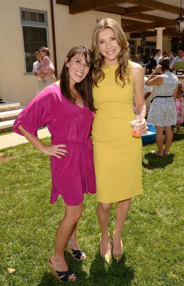 LOS ANGELES, CA - APRIL 27:  Actresses Soleil Moon Frye and Sarah Chalke attend the Huggies Snug & Dry and Baby2Baby Mother's Day Garden Party held on April 27, 2013 in Los Angeles, California.  (Photo by Jason Merritt/Getty Images for Baby2Baby)