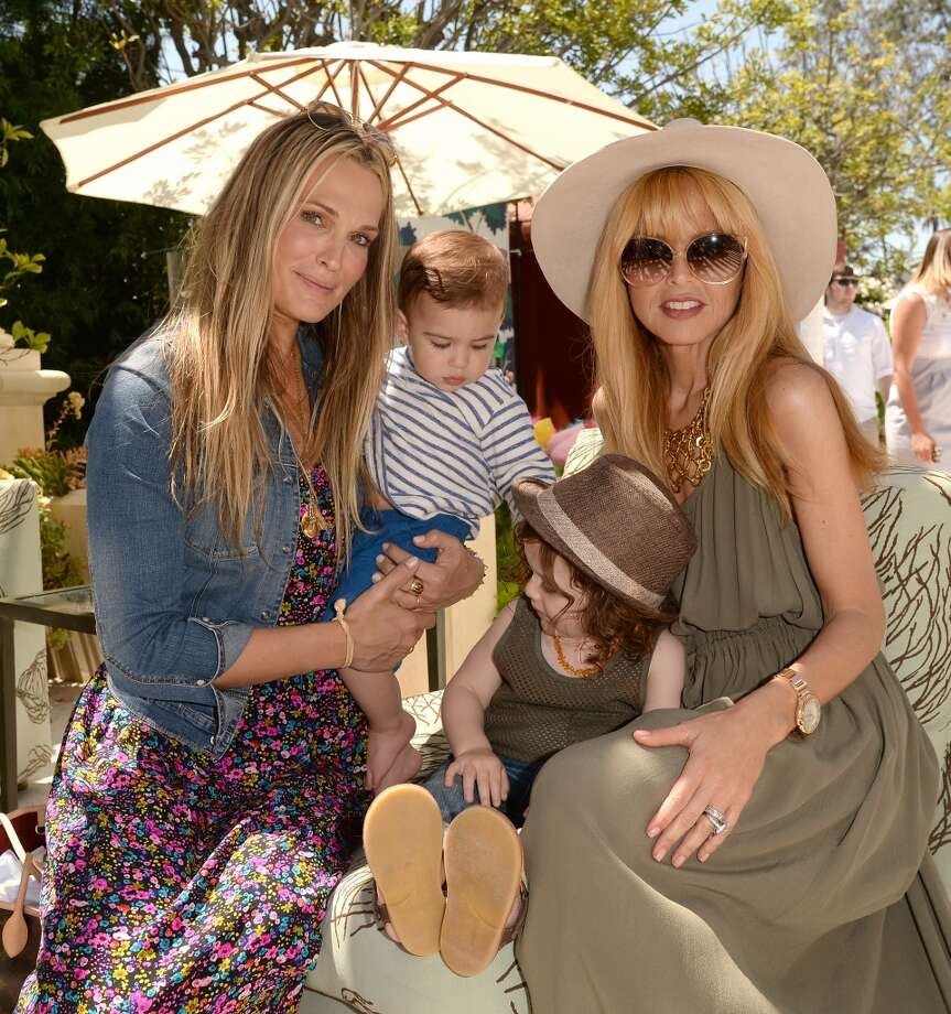 LOS ANGELES, CA - APRIL 27:  Actress (L-R)  Molly Sims, son Brooks Stuber, Designer/TV Personality Rachel Zoe, son Skyler Berman and  Actress Selma Blair attend the Huggies Snug & Dry and Baby2Baby Mother's Day Garden Party held on April 27, 2013 in Los Angeles, California.  (Photo by Jason Merritt/Getty Images for Baby2Baby)