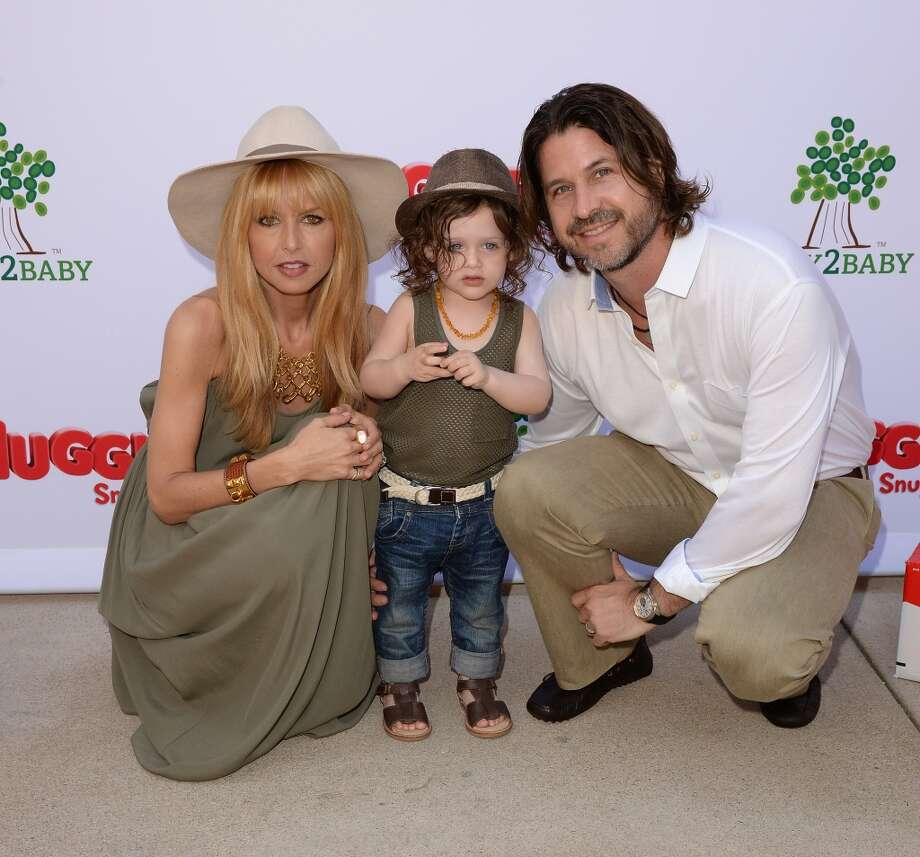 LOS ANGELES, CA - APRIL 27:  Designer/TV Personality Rachel Zoe, Rodger Berman (R), and son Skyler Berman attend the Huggies Snug & Dry and Baby2Baby Mother's Day Garden Party held on April 27, 2013 in Los Angeles, California.  (Photo by Jason Merritt/Getty Images for Baby2Baby)