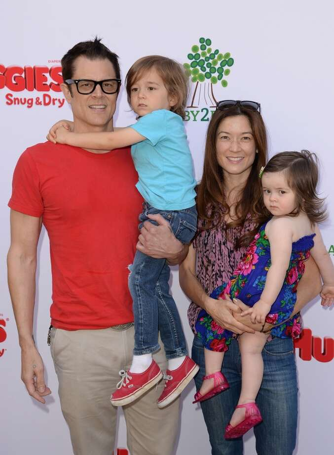 LOS ANGELES, CA - APRIL 27:  Actor Johnny Knoxville and family attend the Huggies Snug & Dry and Baby2Baby Mother's Day Garden Party held on April 27, 2013 in Los Angeles, California.  (Photo by Jason Merritt/Getty Images for Baby2Baby)