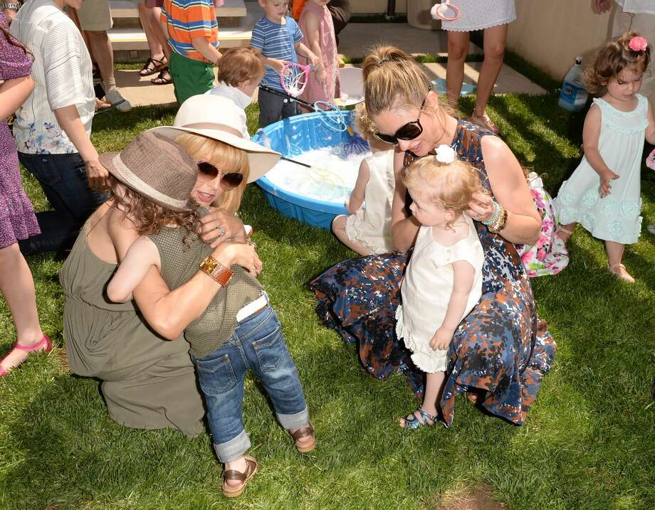 LOS ANGELES, CA - APRIL 27:  Designer/TV Personality Rachel Zoe and actress Rebecca Gayheart attend the Huggies Snug & Dry and Baby2Baby Mother's Day Garden Party held on April 27, 2013 in Los Angeles, California.  (Photo by Jason Merritt/Getty Images for Baby2Baby)