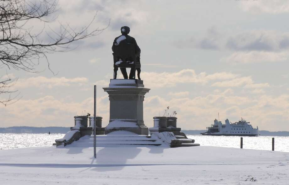 No. 31: BridgeportWorkers here work an average of 37.2 hours a week, according to Census data.   The Bridgeport and Port Jefferson Ferry is pictured departing from Bridgeport, Conn, Sunday morning, Dec. 30, 2012, past the P.T. Barnum statue in Seaside Park.