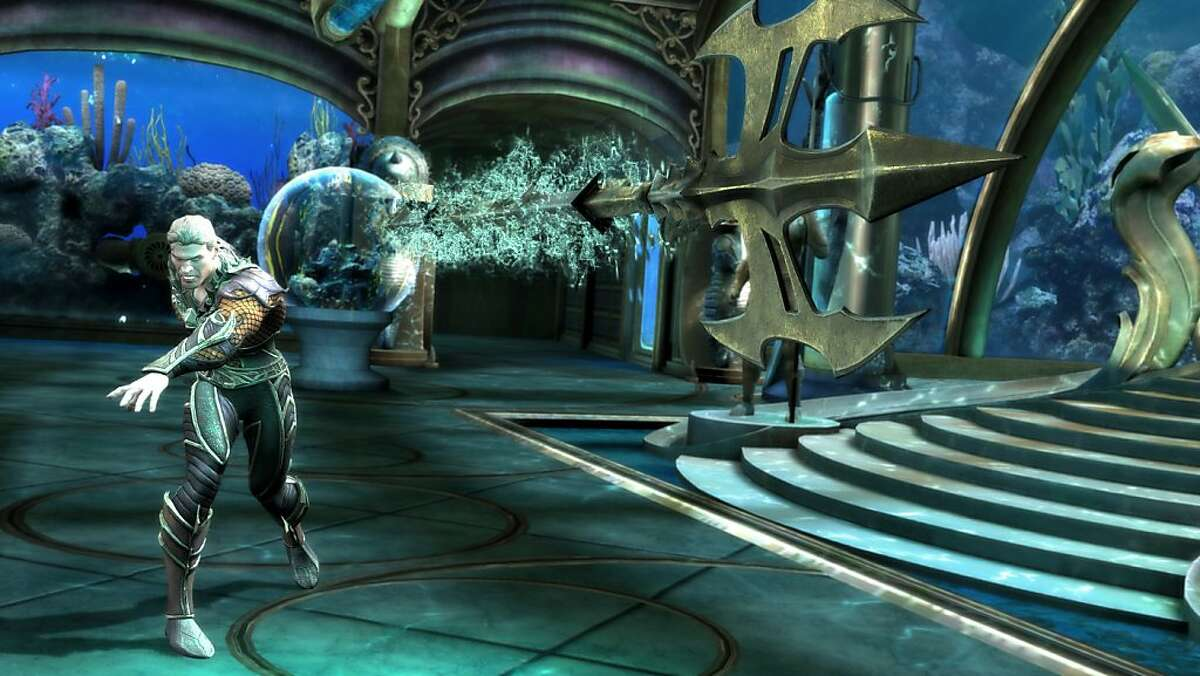 "Aquaman in Atlantis in ""Injustice: Gods Among Us."""