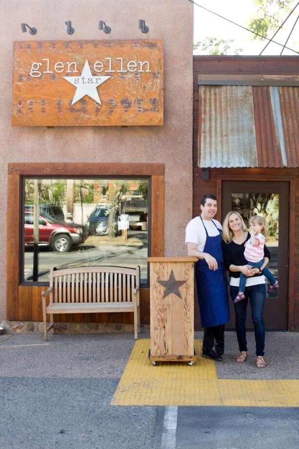 Glen Ellen Star: Ari Weiswasser, chef and owner, with wife Erinn and daughter