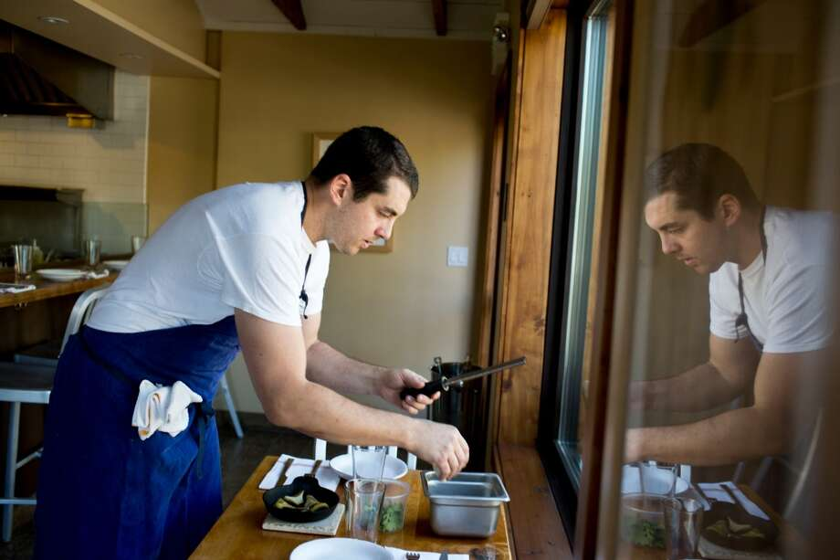 Glen Ellen Star: Ari Weiswasser, chef and owner, preps for the night's service in Glen Ellen, Calif.