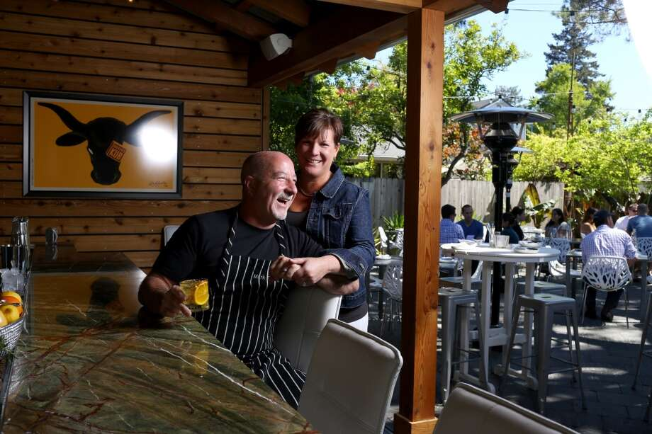 Bravas Bar de Tapas in Healdsburg: Owners Terri and Mark Stark.