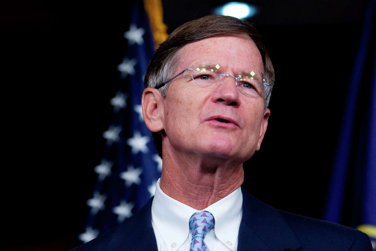 The House Judiciary Committee Ranking Republican Rep. Lamar Smith, R-Tex., speaks during a news conference on Capitol Hill, in Washington, Tuesday, Aug. 10, 2010, announcing a resolution condemning the Proposition 8 decision in California on same-sex marriage. (AP Photo/Drew Angerer)