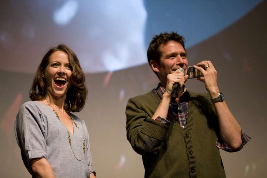 Amy Acker and Alexis Denisof at the premiere of MUCH ADO ABOUT NOTHING at the 56th San Francisco International Film Festival.   Photographed by Pamela Gentile, courtesy of the San Francisco Film Society