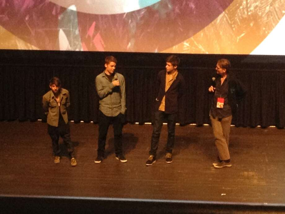 Moises Arias, Gabriel Basso and Nick Robinson, stars of The Kings Of Summer, speak at the post-film Q&A with SFFS programmer Rod Armstrong. Sunday, Apr 28, 2013