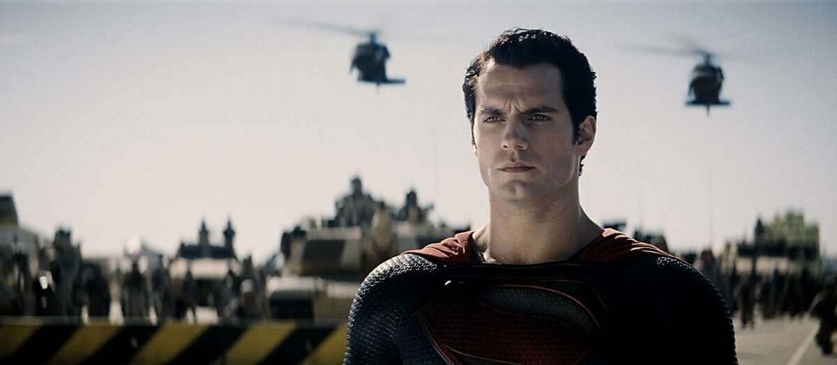 """HENRY CAVILL as Superman in Warner Bros. Pictures' and Legendary Pictures' action adventure """"MAN OF STEEL,"""" a Warner Bros. Pictures release. HENRY CAVILL as Superman in Warner Bros. Pictures' and Legendary Pictures' action adventure �""""MAN OF STEEL,"""" a Warner Bros. Pictures release."""
