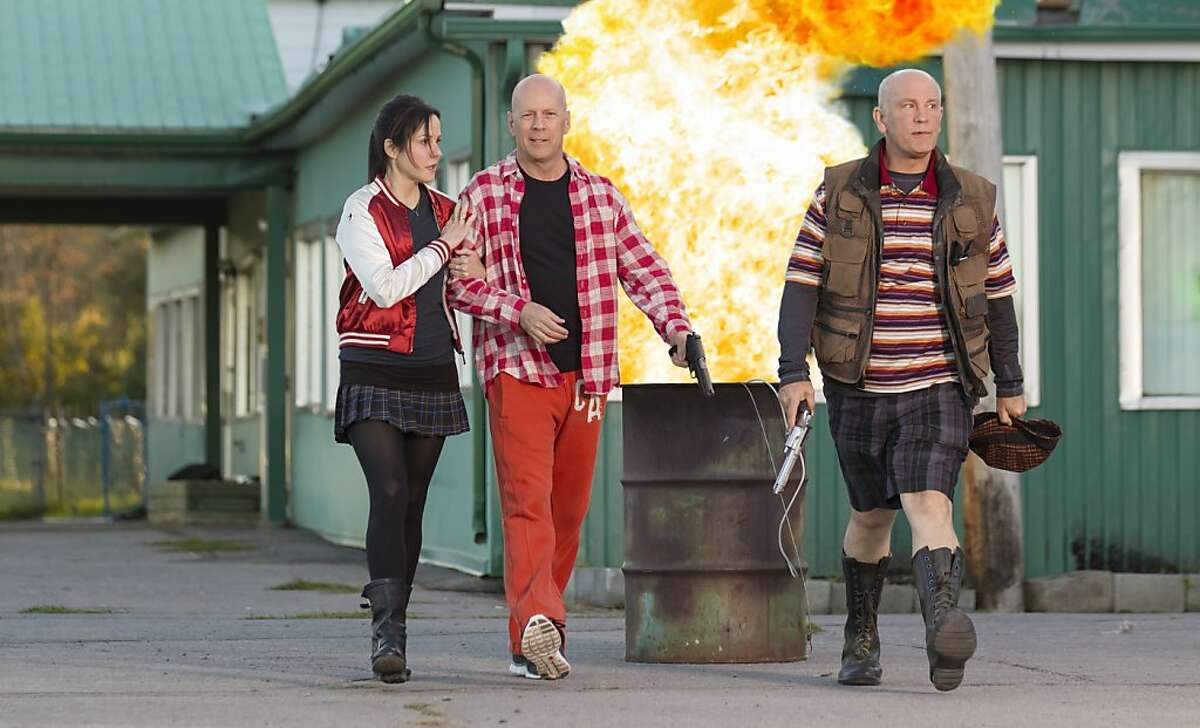 Mary-Louise Parker, Bruce Willis (center) and John Malkovich play characters who find plenty of action in
