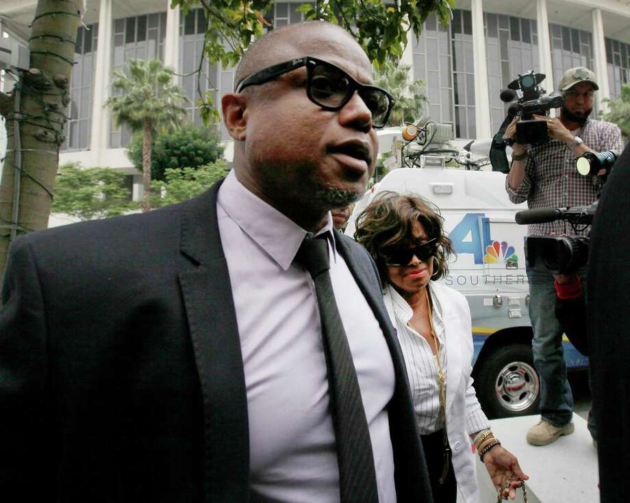 Randy Jackson and Rebbie Jackson, brother and sister of late pop star Michael Jackson, arrive at court for their mother's lawsuit against concert giant AEG. Photo: Nick Ut, STF / AP