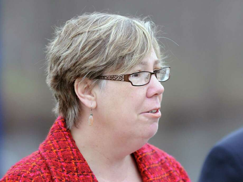 U.S. Environmental Protection Agency Regional Administrator Judith A. Enck speaks during a press conference Monday, April 29, 2013, to announce the start of the fourth season of dredging to remove sediment contaminated with polychlorinated biphenyls (PCBs) in the Upper Hudson River in Fort Edward, N.Y.  (Will Waldron/Times Union) Photo: Will Waldron