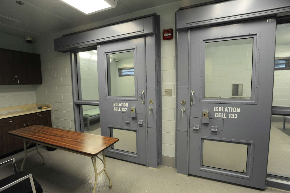 Isolation cells during a tour to reveal the recent completion of Phase I of the Rensselaer County Jail in Troy, N.Y. Wednesday, Oct. 19, 2011. Lori Van Buren / Times Union)